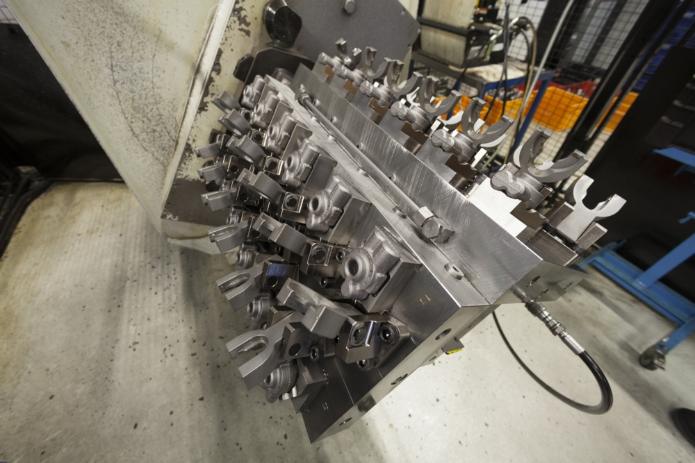 Machining department FMS tooling